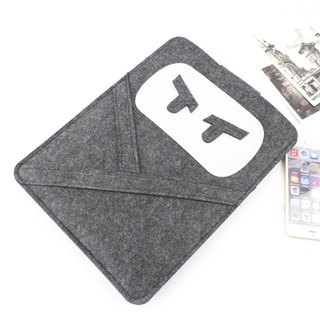 "Original pure handmade dark gray felt apple ninja computer protective cover blanket kit laptop bag Macbook 13 inch computer bag Macbook 13.3 ""Pro Retina (can be tailored) - ZMY041DG13R"