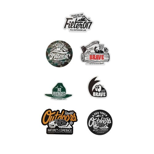 Filter017 stickers - CREALIVE OUTDOOR LAB STICKER SET-B