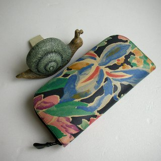 Watercolor Splash Flower Dust - Long clip / wallet / purse / gift