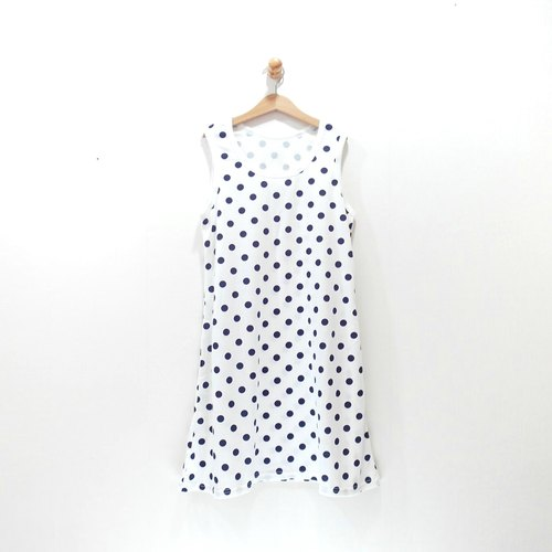 [CrazyBaby] dot vest dress / sleeveless