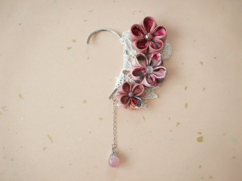 Ear hook ♪ made with knob crafted Hitokoshi crepe