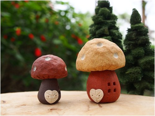 [Village] Mushroom Village mushrooms cute mushroom houses (Parental 1 large 1 small / 2-Pack) / custom orders