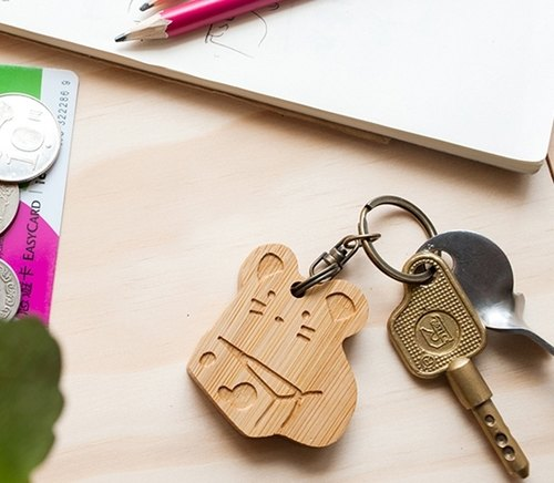 Cute key ring greedy mouse