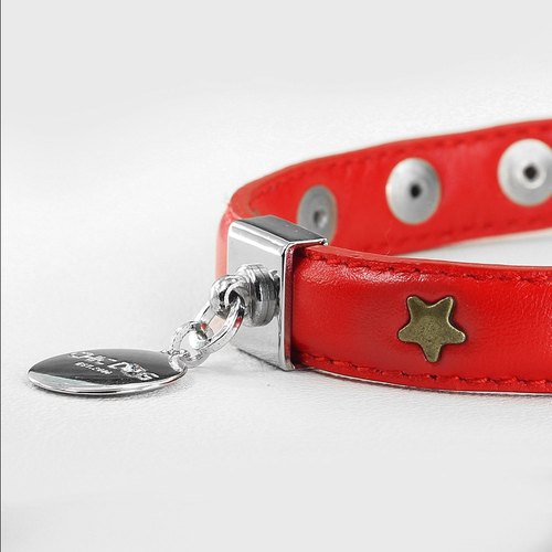"CHIC DOG [] ""M number of dual-use collar"" rock star leather collar leather collar necklace"