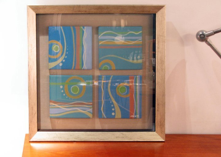 < under the sea > series framed paintings