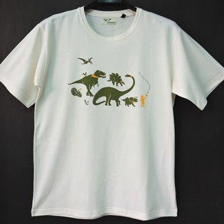 [Ye] Green X Taiwan Museum organic cotton T-neutral version of the dinosaurs