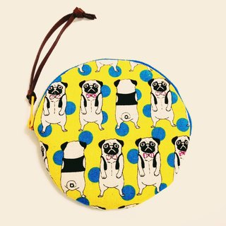 Laugh a yellow fighting dog.... Small purse: Big 1. B11205-b