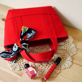 Classic Tote Bag Ssize red x red - Red x Red -