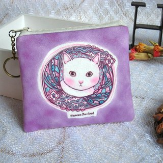 <Animals in the Secret Land>Curiosity of cats coin purses(small size)
