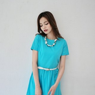 SU:MI said Handmade Series Elastic Cotton Dress_3SF207_湖水蓝