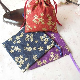 Ryuyunge - Sakura and wind hand-carrying jewelry bags in three colors