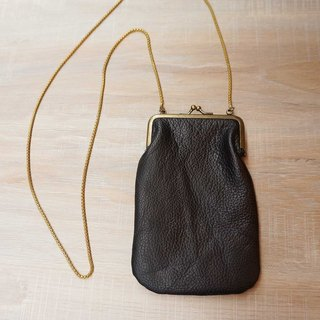 Sienna leather antique gold small mouth