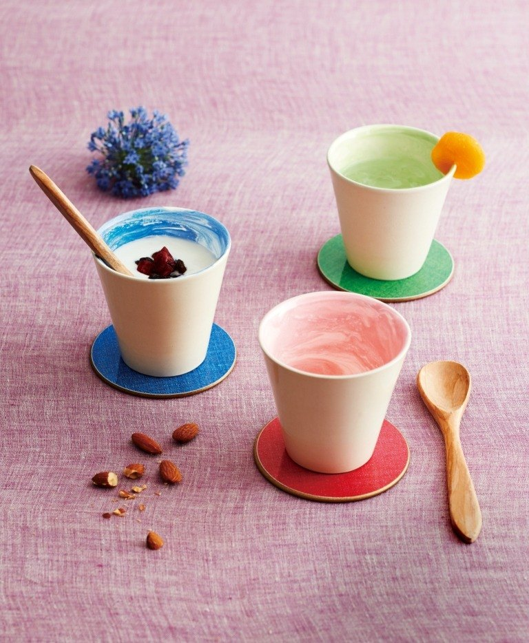 [In The Mood] Kyoto Earth beautiful series of small cups 280ml double into the group
