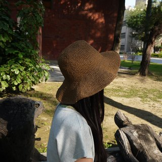 Mama の hand-made hat - Summer Zhisheng cap brown / Mother's Day