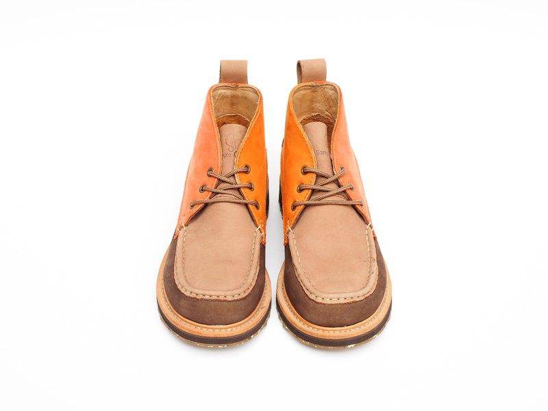 【Yama Girls 山系女孩】SANTA FE BOOTS 馬克頭 踝靴 柑橘拼色