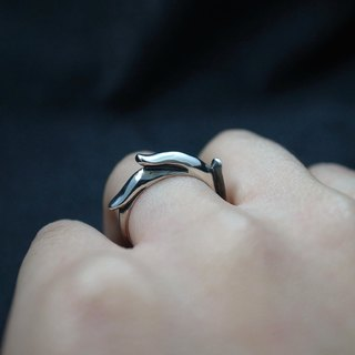 [Inspur sterling silver ring] (neutral models / men and women / tail ring / ring / wave / ocean / dolphins)
