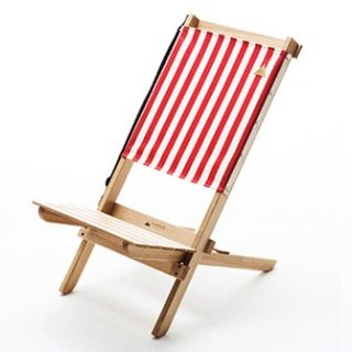 A.NATIVE outdoor camping picnic to chair high-backed wooden folding / striped red
