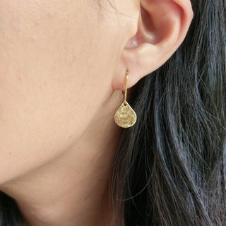 Hammered Raw Brass Drop Earrings