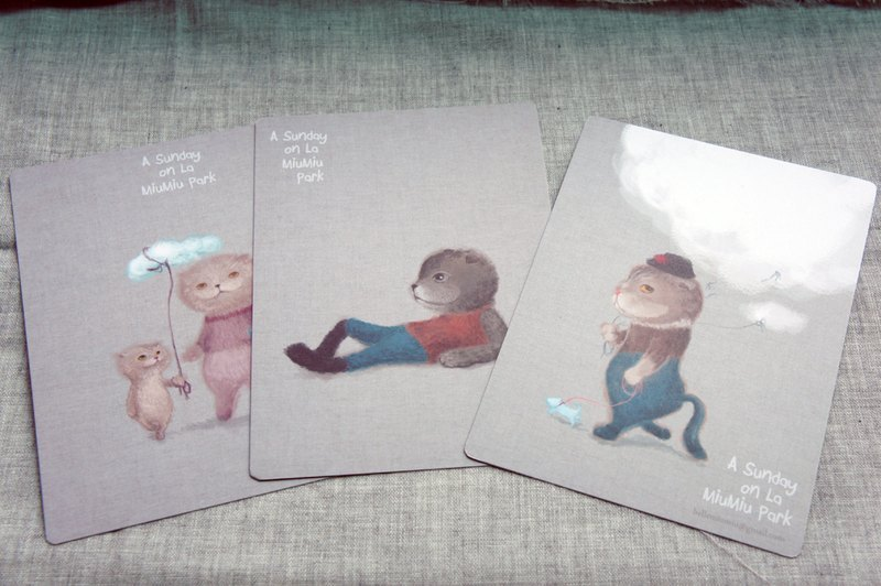 MiuMiuPark Universal Card (5 a set) MiuMiuPark postcards (5 in one)