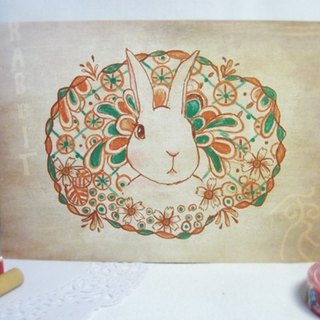 <Animals in the Secret Land> The Rabbit in bushes Postcards