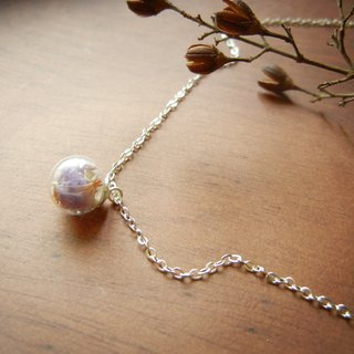 *coucoubird*Lilac glass ball chain - silver chain