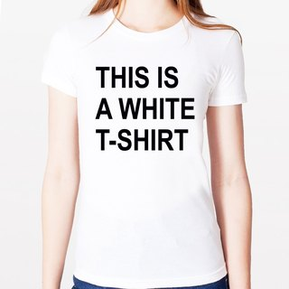 THIS IS A WHITE T-SHIRT girls short-sleeved T-shirt - White This is a white T Green Man character design fun humor