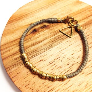 Zathura. Simple series ◆ Sugar Nok ◆ wax line bracelet brass