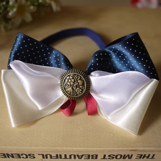 Safety x pet collar blue calm Shuiyu little bit retro cats and dogs / Collar / tie / Jojo ♥ cherry pudding Cherry Pudding ♥