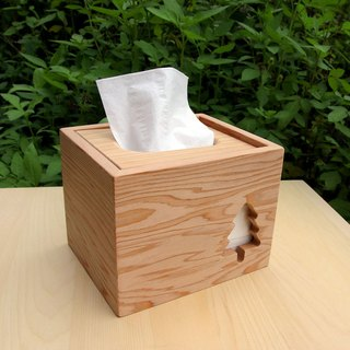 Hinoki Square Tissue Box Cover - Tree