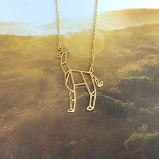 Giraffe, Origami Necklace, Animal Necklace, Giraffe gifts