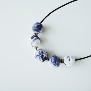 Marble Clay Purple Necklace