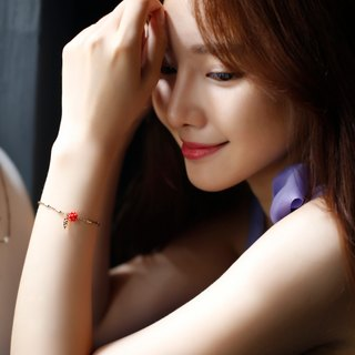 Round 氐 light travel woman heart bracelet (R red)