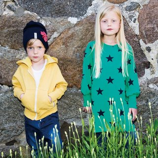Sweden [system] in the organic cotton bristles Hoodie yellow (for 2Y-10Y)