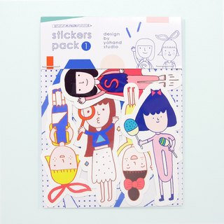 Yohand and Her Friends / Medium Sticker Set 2-1