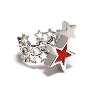 Handmade Red star ring