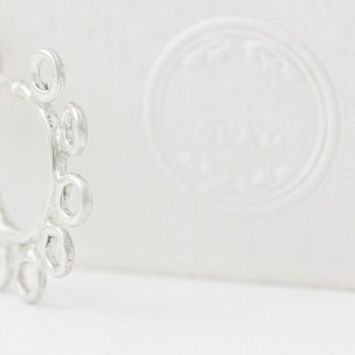 QLAM Handmade Silver Earrings - Imperfect complete perfect - the fruit of the Holy Spirit , Kindness - Gospel jewelry , Rounded , Circle , Bohemian-style