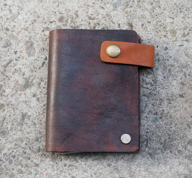Sienna leather poker card holder