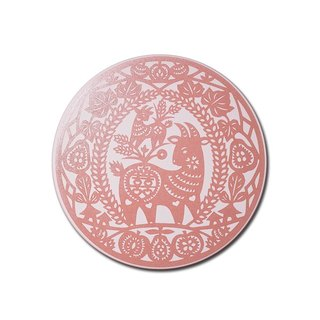US cultural and creative play Frankie absorbent coaster Happiness