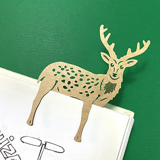Mark TAIWAN Wheat and Wheat Zoo - Sika Deer Paper Bookmark