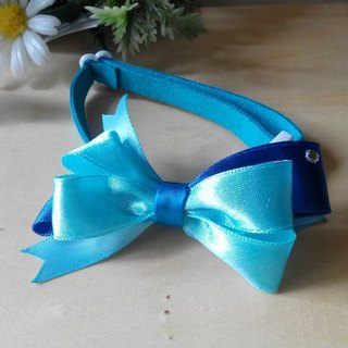 Security fresh light blue cats and dogs pet collars x / Collar / tie / Jojo ♥ cherry pudding Cherry Pudding ♥