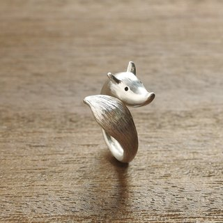 Love to follow you around the little fox ring 925 silver
