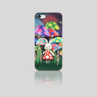 (Rabbit Mint) Mint Rabbit Phone Case - Bu Mali mushrooms series Merry Boo - iPhone 5 / 5S (M0003)