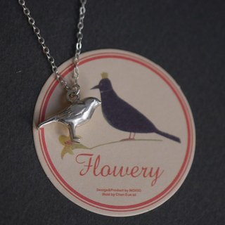 Lovely Zoo - Handmade Tiny Bird Necklace - 3D Sterling Silver
