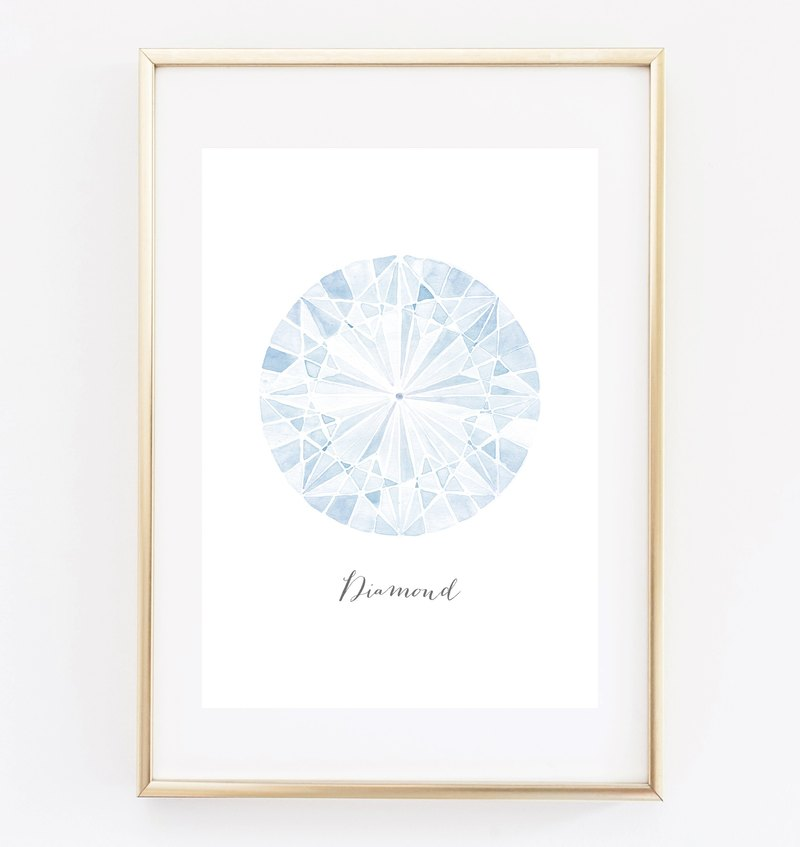 Diamond (White) Customizable Hanging Poster