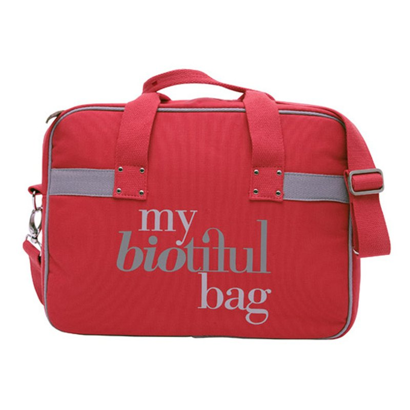France my biotiful bag Organic Cotton Urban Series Computer Bag-RED
