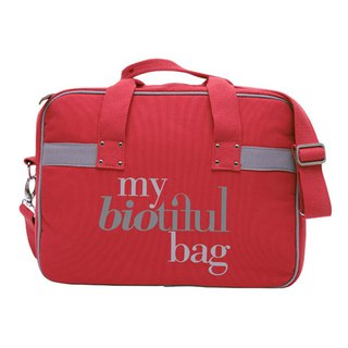 法國my biotiful bag有機棉Urban系列 Computer Bag-RED