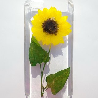 Anny's workshop hand-made pressed flower phone case for iphone 5 / 5S and SE, sunflower