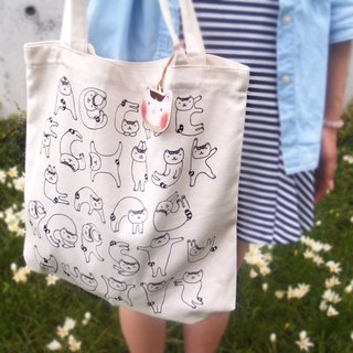 [Cattitude] Cat Cat Alphabet Letters Tote bag Alphabet Tote bag