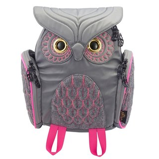 Morn Creations backpack after genuine fashion owl - gray (S) (OW-316-GY)