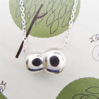 Bubble sterling silver necklace -2
